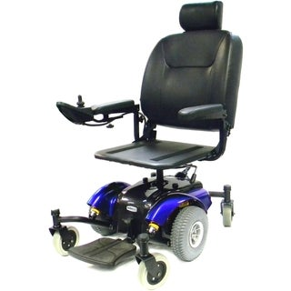 Intrepid Blue Mid-Wheel Quadra Spring Power Wheelchair