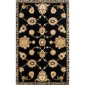 Hand-tufted Hurst Black Wool Rug (2' x 3')