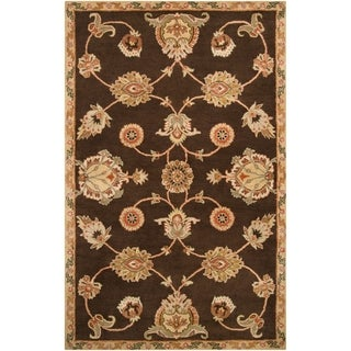 Hand-tufted Huxley Brown Wool Rug (2' x 3')