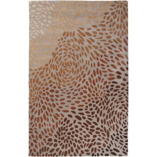 Hand-tufted Jeir Brown Wool Rug (2' x 3')