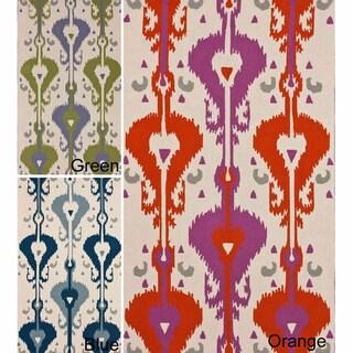nuLOOM Handmade Bold Ikat Print Wool Rug (7'6 x 9'6)