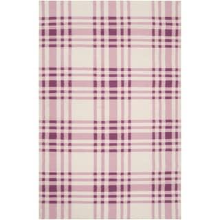 Country Living Hand-woven Langley Purple Wool Rug (2' x 3')