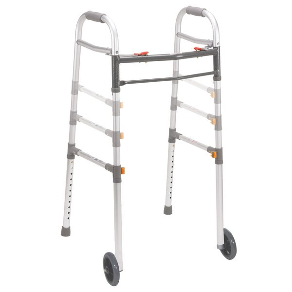 Universal Adult/Junior Deluxe Folding Two-Button Walker