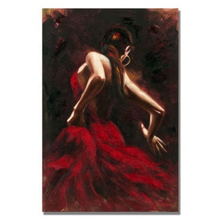 Antonio 'Flamenco Dancer' Canvas Art