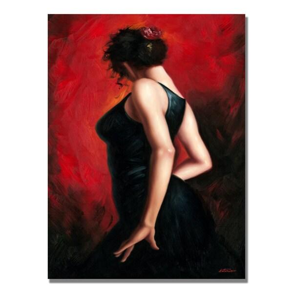 Antonio 'Flamenco Dancer II' Canvas Art