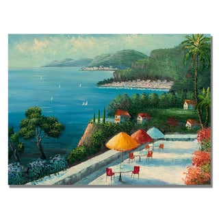 Rio 'Cafe on Lake Como' Canvas Art