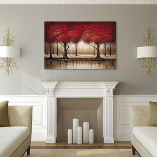 Rio &#39;Parade of Red Trees&#39; Canvas Art