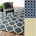 Handmade Marrakesh Trellis Wool Rug (5&#39; x 8&#39;)