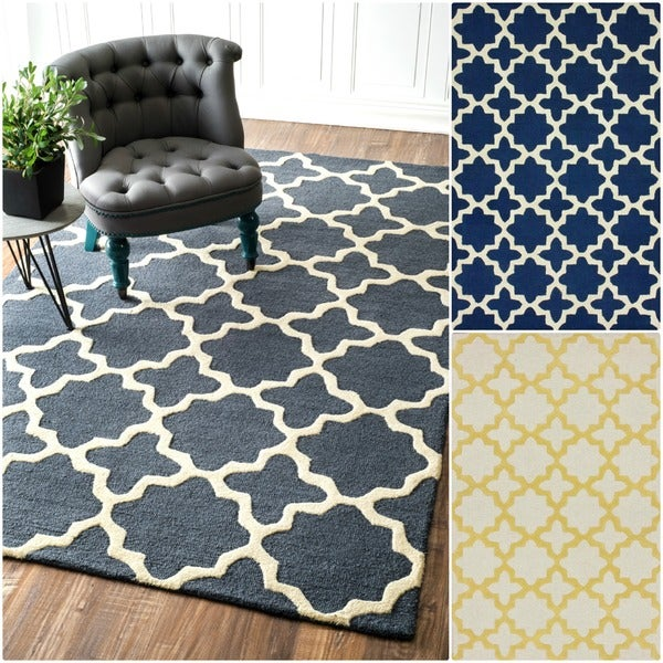 nuLOOM Handmade Marrakesh Trellis Wool Area Rug (7'6 x 9'6)