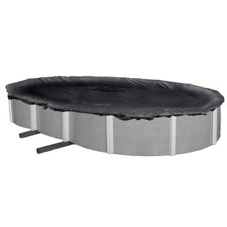 Dirt Defender Oval Rugged Mesh Above-ground Pool Winter Cover