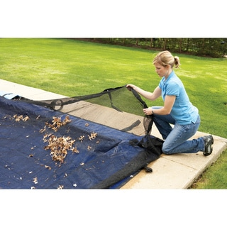 Dirt Defender Round Leaf Net Above-ground Pool Cover
