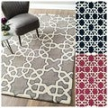 Handmade Marrakesh Trellis Wool Rug (7&#39;6 x 9&#39;6)