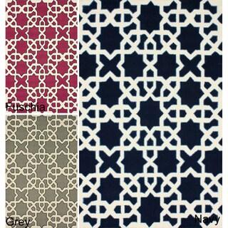 nuLOOM Handmade Marrakesh Trellis Wool Rug (7'6 x 9'6)