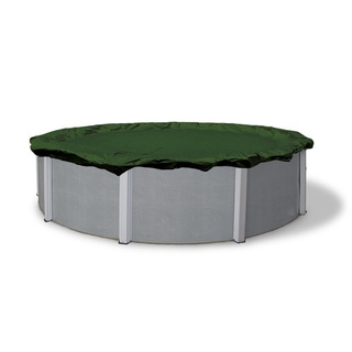 Dirt Defender Silver 12-Year 30-ft Round Above Ground Pool Winter Cover