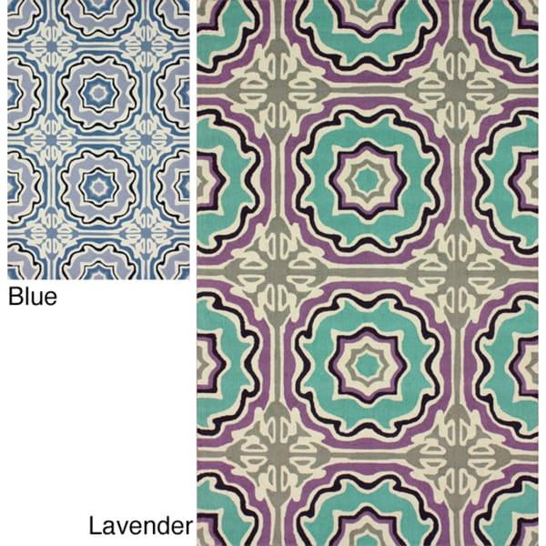 nuLOOM Handmade Spanish Tiles Wool Rug (8' x 10')