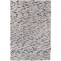 Hand-woven Georgetown Grey Wool Plush Shag Rug (2' x 3')