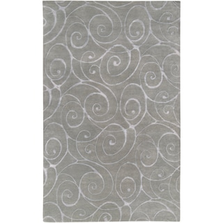 Hand-tufted Jerrara Grey Wool Rug (2' x 3')