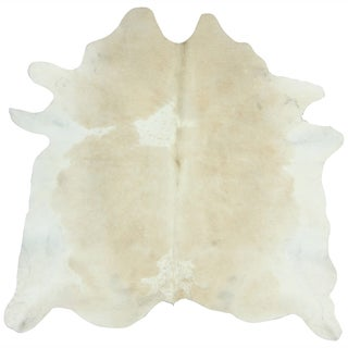Hand-picked Brazilian Metallic Natural Cowhide Rug (5&#39; x 7&#39;)