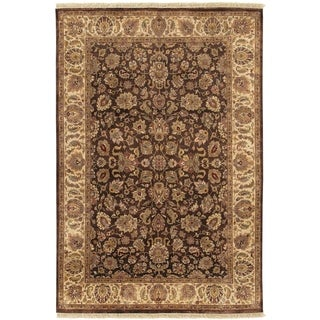 Hand-knotted Lackland Brown Wool Rug (2' x 3')