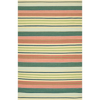 Country Living Hand-woven Lakewood Green Wool Rug (2' x 3')