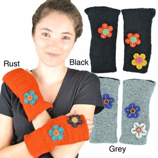 Flower Power Woolen Handwarmer (Nepal)