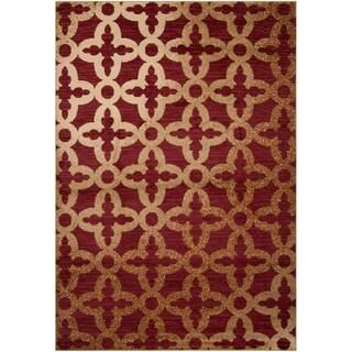Lavon Red Olefin Rug (2' x 3')