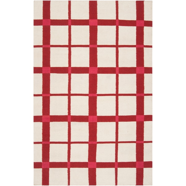Country Living Hand-woven Lamesa White Wool Rug (2' x 3')