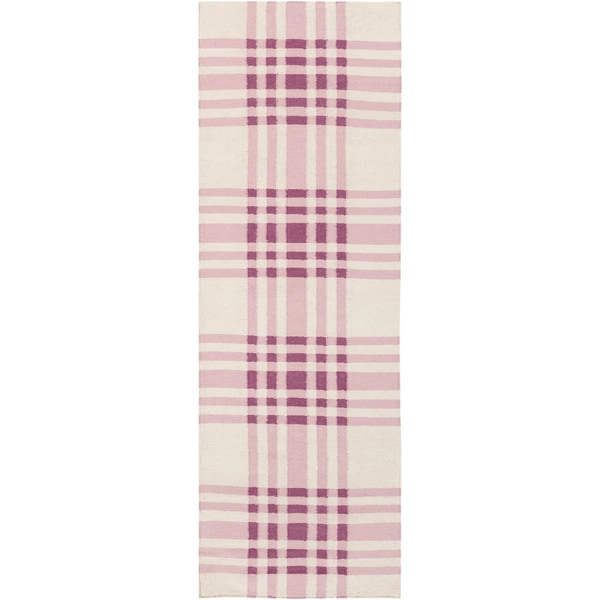 Country Living Hand-woven Lang Purple Wool Rug (2'6 x 8')