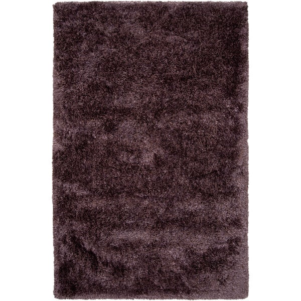 Hand-woven League Purple Super Soft Shag Rug (2' x 3')