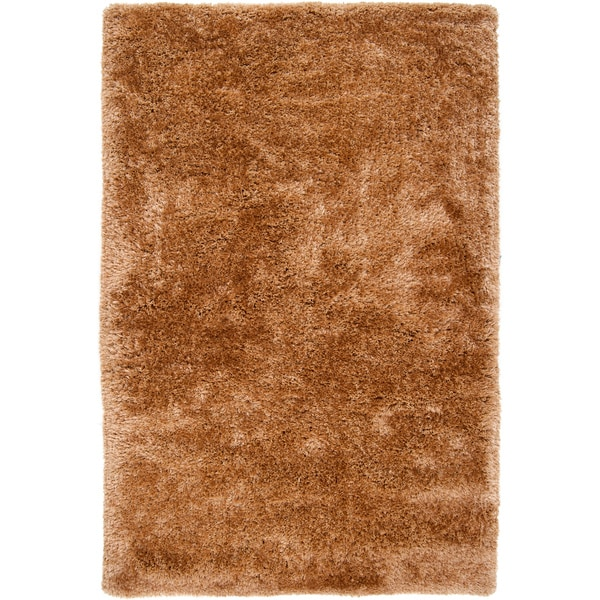Hand-woven Leakey Brown Super Soft Shag Rug (2' x 3')