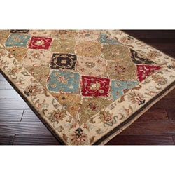 Hand-knotted Montesano Beige Wool Rug (2' x 3')