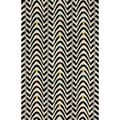 nuLOOM Handmade Modern Chevron Waves Black Wool Rug (5' x 8')