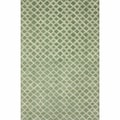 Handmade Moroccan Trellis Light Green Wool Rug (7'6 x 9'6)