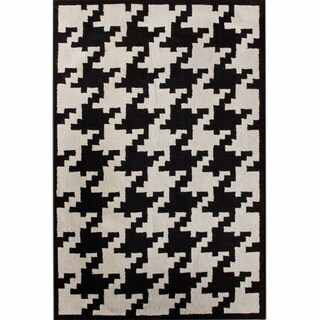 nuLOOM Hand-tufted Spectrum Houndstooth Wool Rug (8'3 x 11')