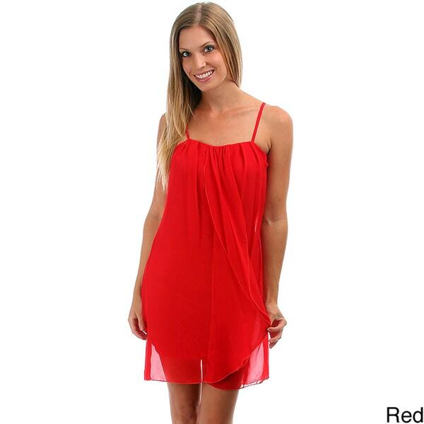 Lyssa Loo Women's Chiffon Top Layer Dress