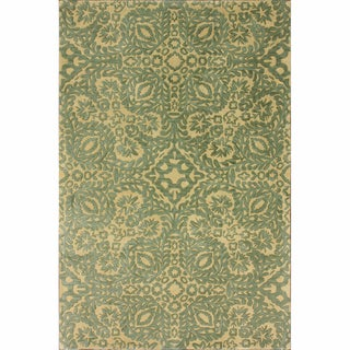 nuLOOM Handmade Lace Natural Wool Rug (5' x 8')