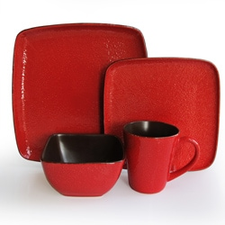 American Atelier Caliente Red 16 Piece Dinnerware Set