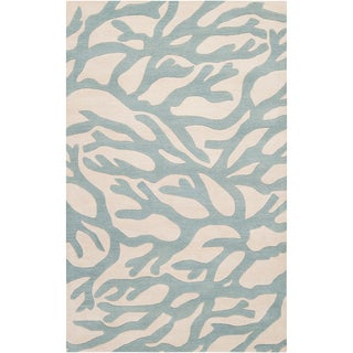 Somerset Bay Hand-tufted Morton Blue Beach Inspired Wool Rug (2' x 3')