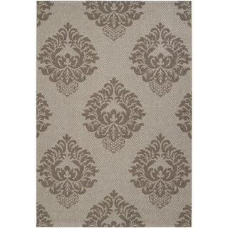 Murchison Grey Indoor/Outdoor Damask Pattern Rug (2'2 x 3'4)