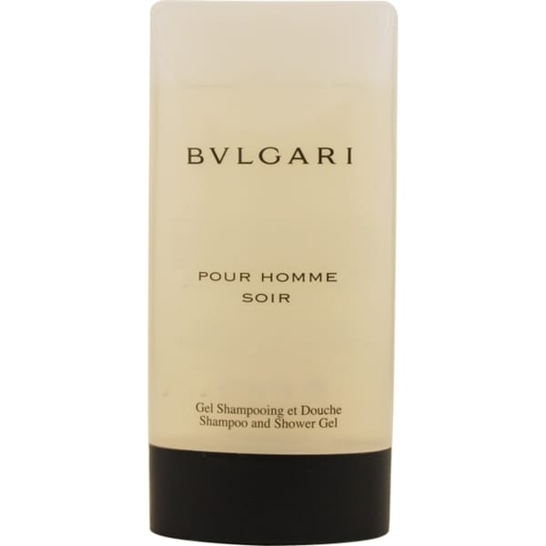 Bvlgari Pour Homme Soir Men's 6.7-ounce Shampoo and Shower Gel