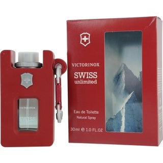 Victorinox 'Victorinox Swiss Unlimited' Men's 1-ounce Eau de Toilette Spray Rubber Bottle