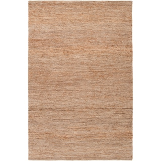 Hand-woven Nowendoc Tan Natural Fiber Hemp Rug (2' x 3')
