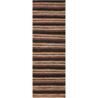 Hand-woven Newson Tan Natural Fiber Hemp Rug (2'6 x 8')