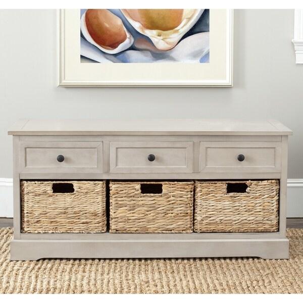Safavieh Damien Grey 3-drawer Storage Unit