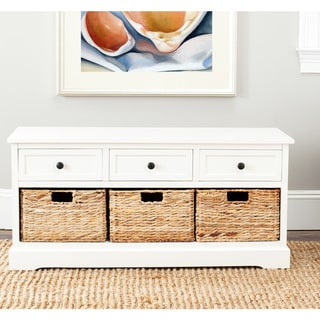 "Safavieh Damien Cream 3-drawer Storage Unit - 42.1"" x 15.4"" x 19.7"""