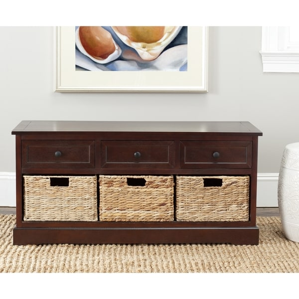 Safavieh Damien Dark Cherry 3-drawer Storage Unit