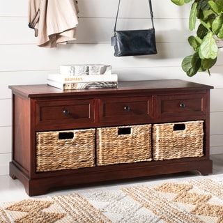 "Safavieh Damien Dark Cherry 3-drawer Storage Unit - 42.1"" x 15.4"" x 19.7"""