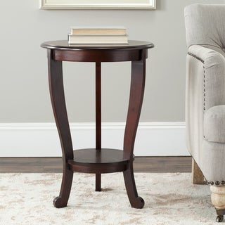 Safavieh Cape Cod Dark Cherry Pedestal Side Table