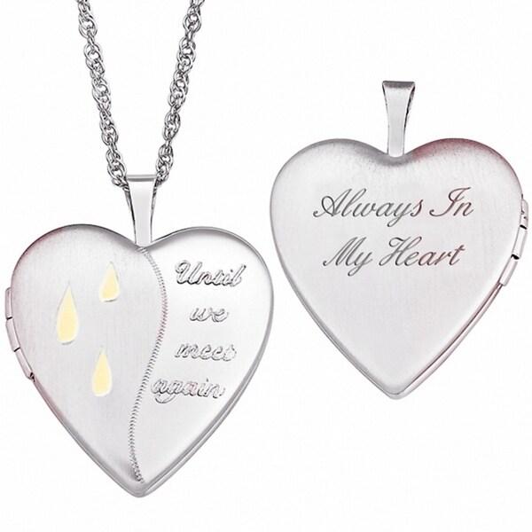 Sterling Silver Memorial Locket Necklace 9811548