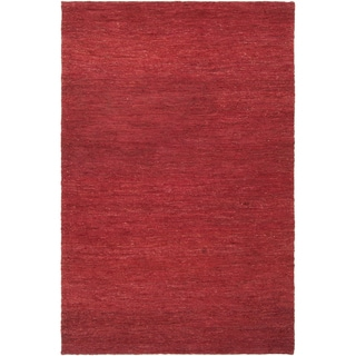 Hand-woven Dominican Red Natural Fiber Hemp Rug (2' x 3')